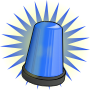 Blue signal light