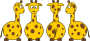 Cartoon Giraffe (front, back and side views) Thumbnail
