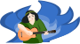 bard woman playing gitar Thumbnail