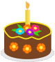 Small Cake Clipart : Clipart - Chocolate Birthday Cake