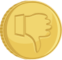 Coin thumbs down