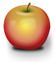 Photorealistic Red Apple />
