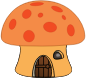 Orange mushroom house