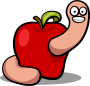 Apple Worm - Colour />
