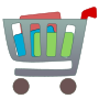 Shopping cart with items Thumbnail