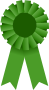 Award Ribbon -- Green