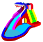 Bouncy Castle - Water Slide - Pool />