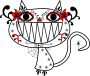 Catrina Color Smily Cat