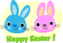Happy Easter - Rabbits