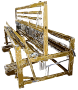 Old Fashioned Fabric Loom Vectorized