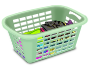 Basket With Folded Laundry