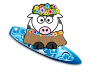 Surfer Girl Cow />