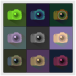 SLR Digital Camera Icons Color Study