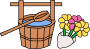 Hakamairi - Bucket and Flowers