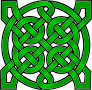 Celtic Mandala Green
