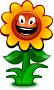 Cartoon flower, game character />