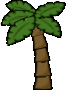 Brighter palm tree