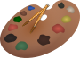 Palette and paintbrushes Thumbnail