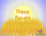 Happy Baisakhi with wheat crop