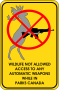 Wildlife Not Allowed To Access Automatic Weapons While In Parks Canada
