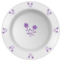 Plate with flower pattern