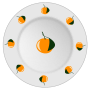 Plate with orange pattern