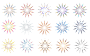 "Set Of 15 Colorful ""Flower"" Shapes Thumbnail"