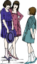 Three Young Girls - Colour