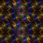 Rainbow Triangle Pattern With Black Background