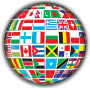 World Flags Globe With Shading
