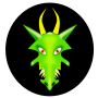 Face of a Green Dragon