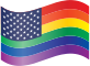 Waving Rainbow Stars and Stripes Thumbnail