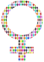 Female Symbol - Multicolour Thumbnail