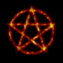 Burning pentagram