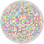 Colorful High Density Dots Sphere
