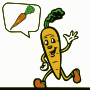 Carrot with speech bubble