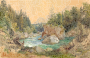 Wooded River Landscape in the Alps Thomas Ender Thumbnail