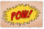 Pow comic book sound effect