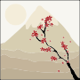 Japanese Maple Tree In The Shadow Of A Mountain Thumbnail