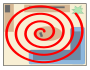 Spiral search pattern