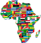 Africa Flags Slimmed Down