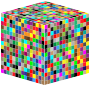 3D Multicolored Cube