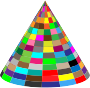 3D Multicolored Cone