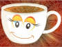 Anthropomorphic Happy Female Cup Of Coffee Or Tea