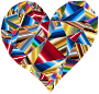 Polychromatic Low Poly Heart 2