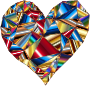 Polychromatic Low Poly Heart 3