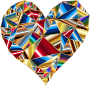 Polychromatic Low Poly Heart 4
