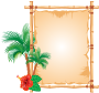 Decorated bamboo frame Thumbnail