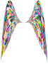 Colorful Geometric Angel Wings