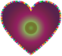 Multicolored Arrows Heart Filled 4
